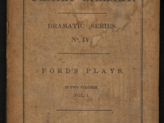 FORD'S PLAY in Two Volumes