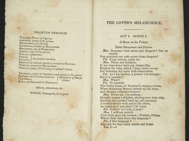 The Lover's Melancholy