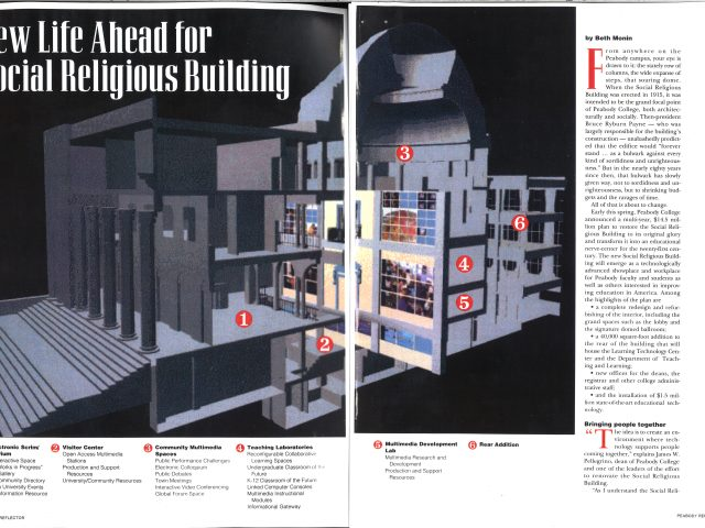 """""""New Life Ahead for Social Religious Building""""  Peabody Reflector, Vol. 64, no.1"""