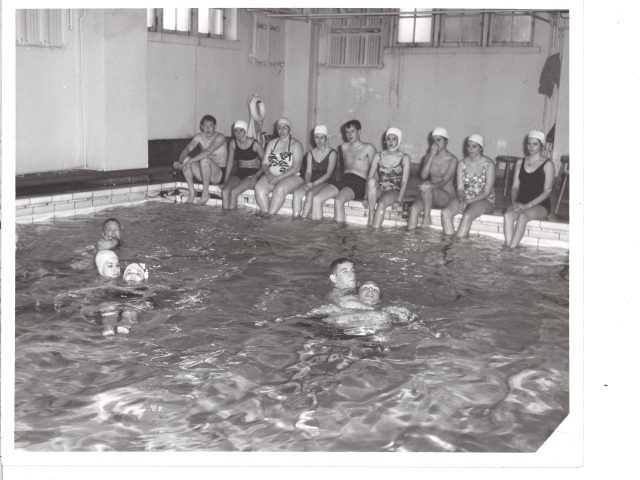 [Life Saving Class in Swimming Pool in the Basement of the Social Religious Building]