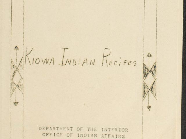 Kiowa Indian Recipes