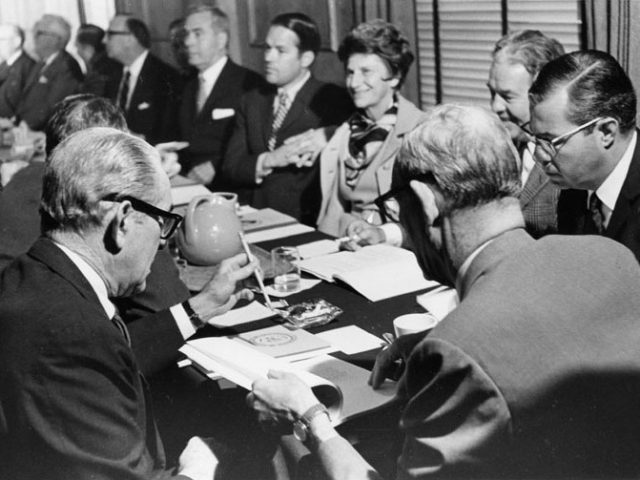 Mary Jane Werthan attending Her 1st Board of Trust Meeting