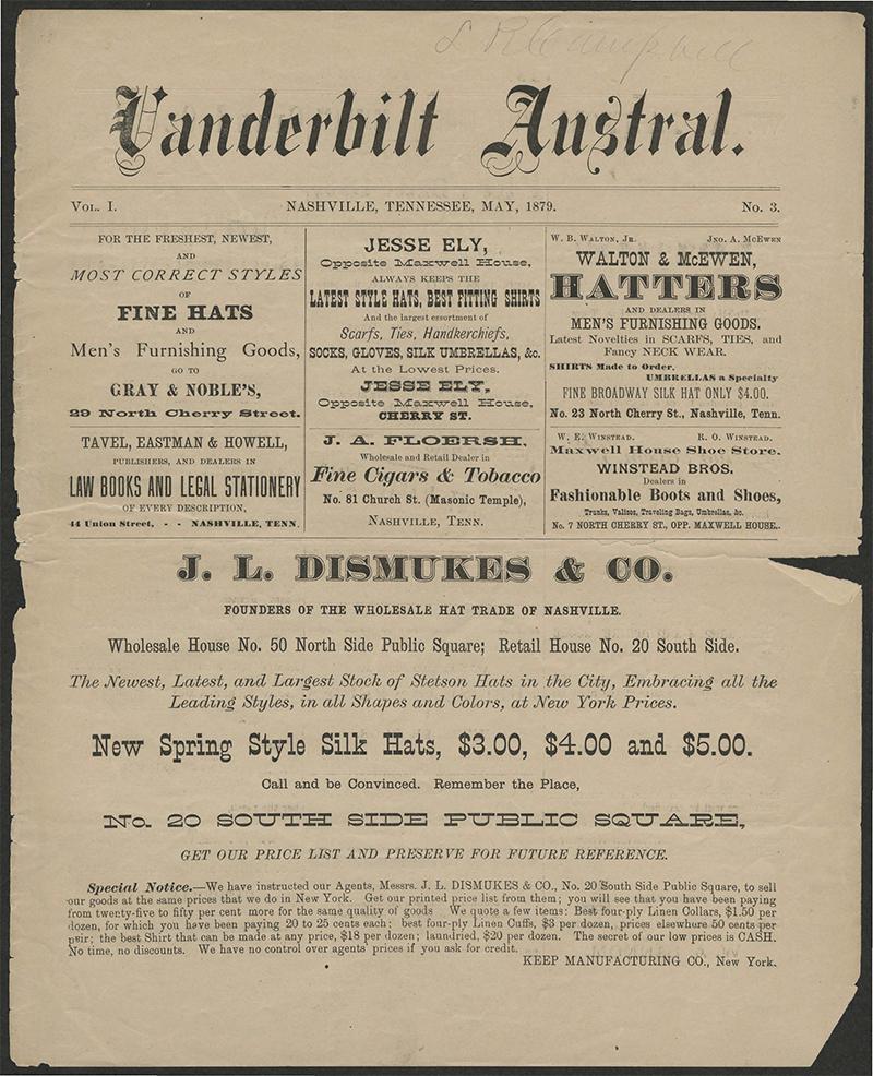 Vanderbilt Austral Vol 1, No 3, May 1879