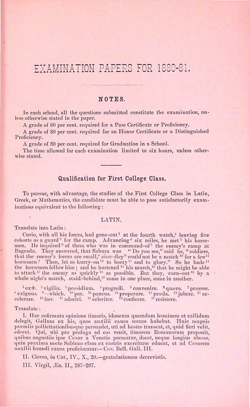 Exam 1880-1881