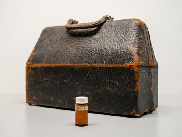 Doctor's Bag and Quinidine Bottle