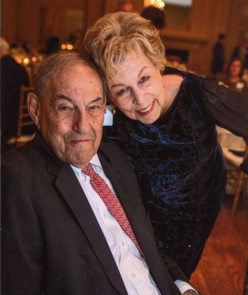 Jack May pictured with wife, Lynn May.