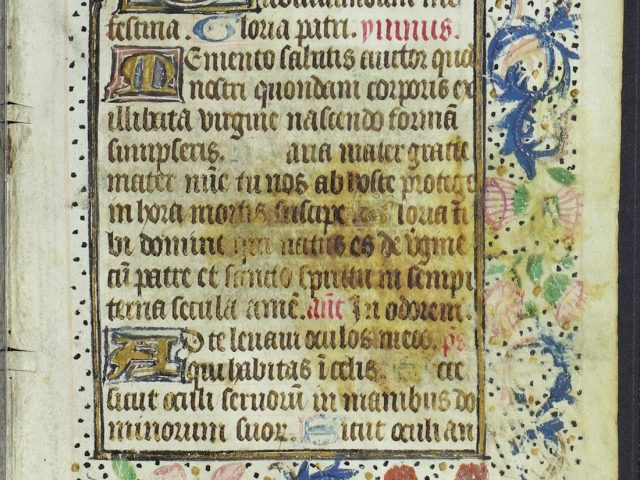 [Book of Hours Leaf with Floral Border]