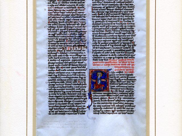 [Manuscript Latin Bible, Leaf 08]