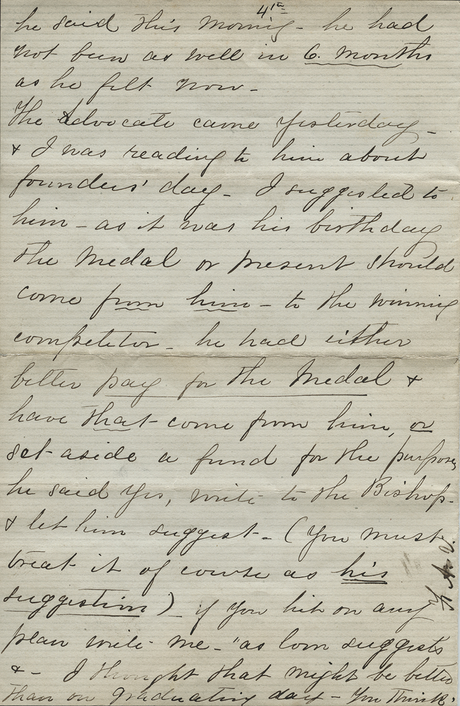 Letter, March 17, 1873