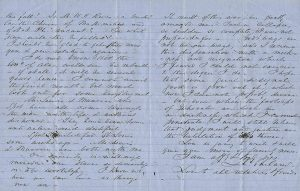 Letter from Chancellor Landon C. Garland to his sister Caroline, May 1865