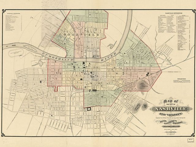 Map of the City of Nashville and Vicinity