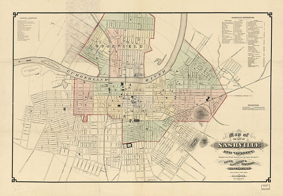 Map of the City ofNashville and Vicinity