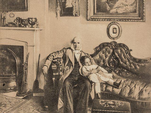 [Commodore Cornelius Vanderbilt at Home]