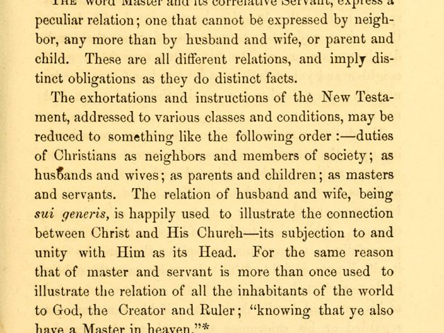 Duties of Christian Masters to their Servants
