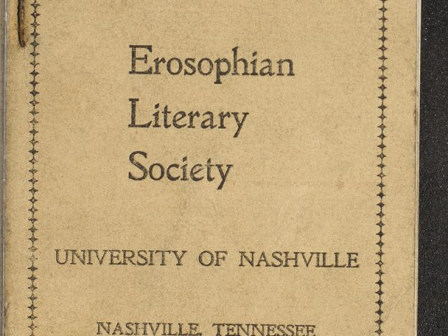 Constitution and By-Laws of the Erosophian Literary Society