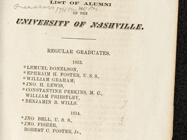 Tennessee; and the Duty of her Educated Sons: An Address Delivered before The Alumni Society of the University of Nashville
