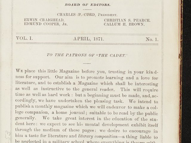 The Cadet: A Monthly Magazine Published at the University of Nashville (vol 2) 1872
