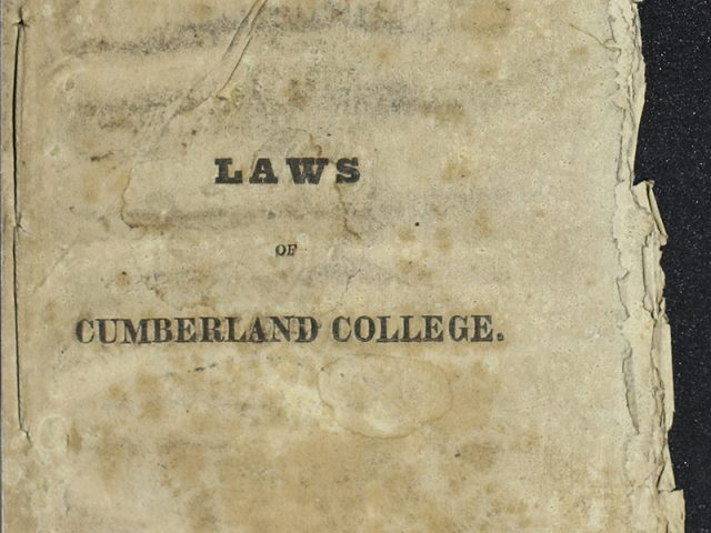 """""""Laws of Cumberland College"""""""