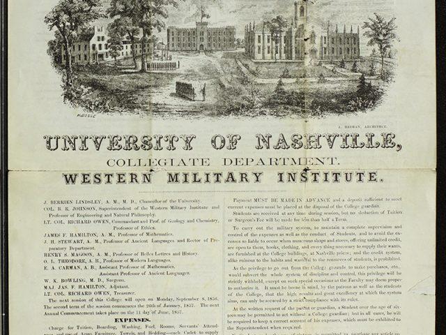 University of Nashville Collegiate Department Western Military Academy