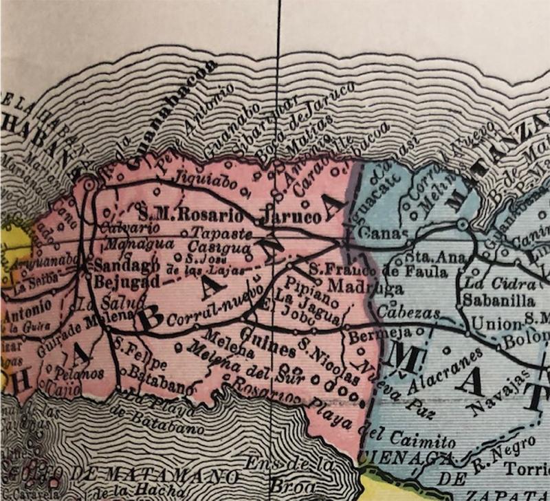 [Map of Cuba]