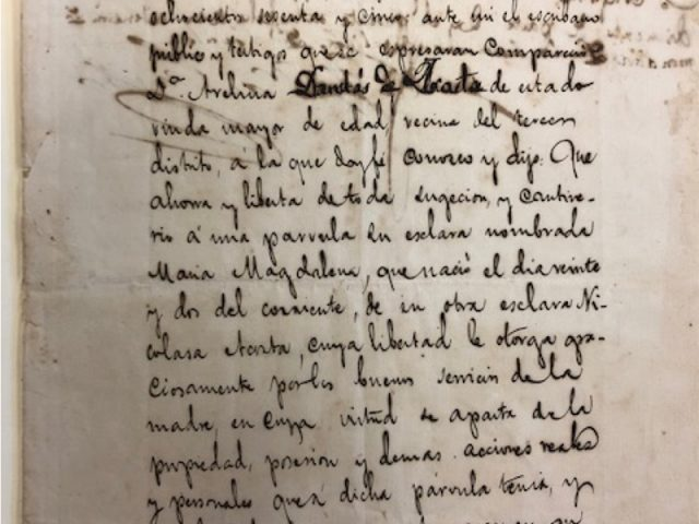 Cuban sale of slaves, 1871 [Sale of Slaves between Brooks and Company and Marcelina Barthe Lescaille]